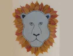 Løvehoved af blade