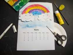 kalendersider, mal selv kalender, kreative idéer til børn