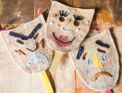masker, fastelavn, genbrugsmaterialer, kreative idéer til børn