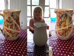 Porcelænsmaling med malertape