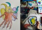 elepantdyr kreativ med Ungerne