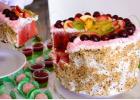 Vandmelon fest, frugt, kage, fødselsdag, barnedåb, sund kage