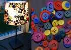 Lampe, knapper, kreativ med ungerne, kreative ideer, lys, efterår, vinter