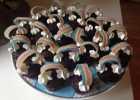børnefødselsdag, regnbuefødselsdag, muffins